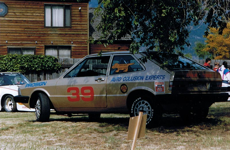Darren's Scirocco ice racer at the Knox Mtn Hillclimb in Kelowna May 1989