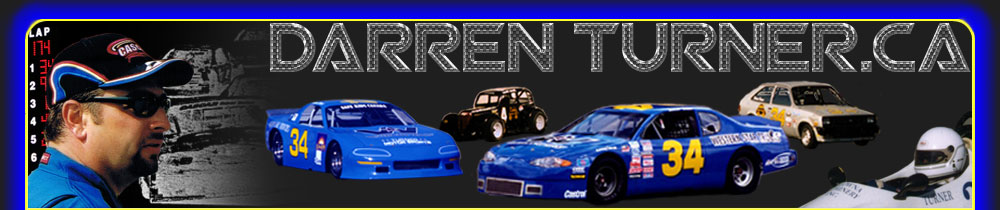 Racing driver Darren Turner and some of his race cars